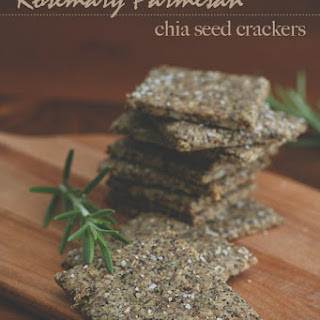 Rosemary Parmesan Chia Seed Crackers – Nut-Free.