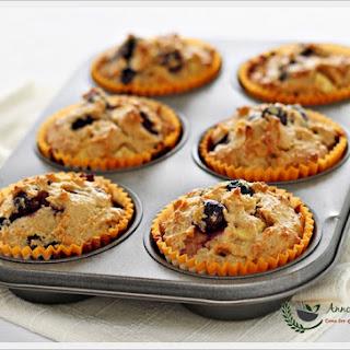 Flourless Blueberry Apple Muffins