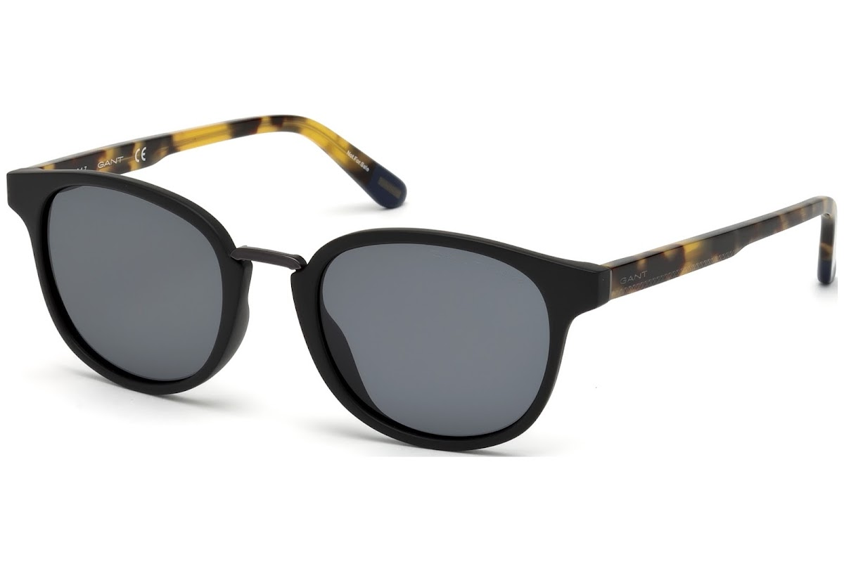 38b208fe7b5fc Polarized Sunglasses Gant GA7096 C51 02D (matte black   smoke polarized)