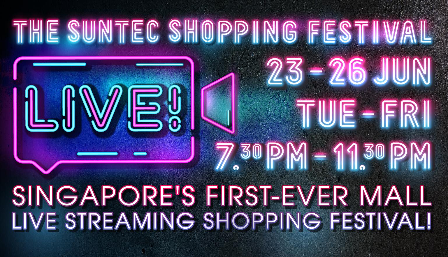 Suntec Live Stream Shopping