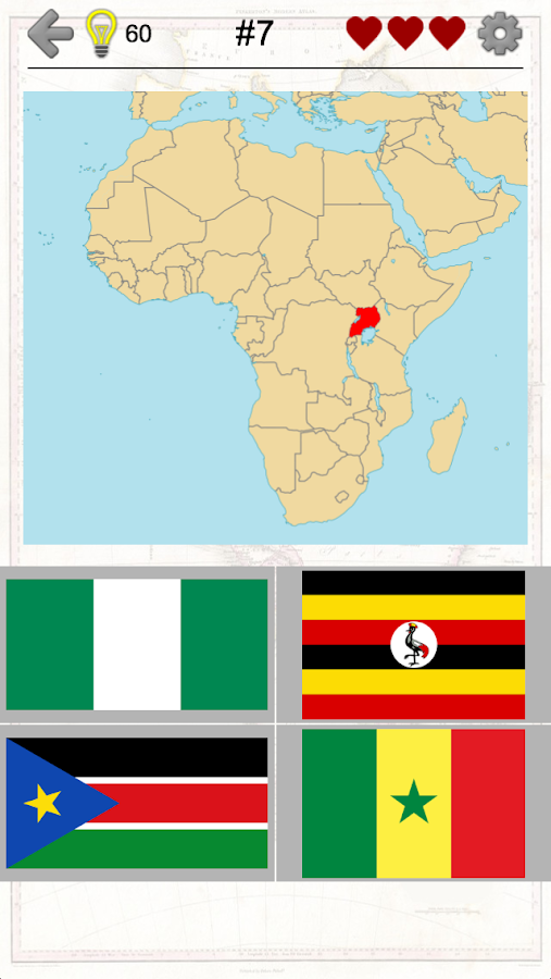 African Countries - Flags and Maps of Africa Quiz- screenshot
