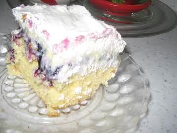 Blueberry Boston Cream Cake