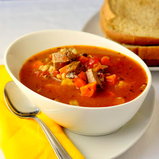 Braised Beef Tomato and Barley Soup