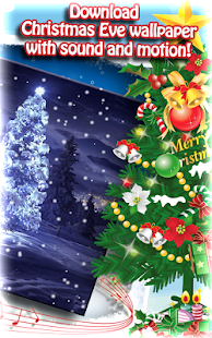 Snowy Christmas Night Live Wallpaper - náhled