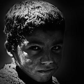 Afgani by Abdul Rehman - Black & White Portraits & People ( pakistan, punjab, beautiful, beauty, light, natural, eyes,  )