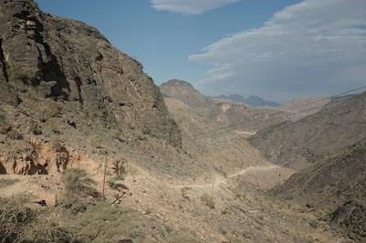 Abfahrt vom Al Hoota Pass