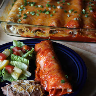 Weeknight Chicken Enchiladas.