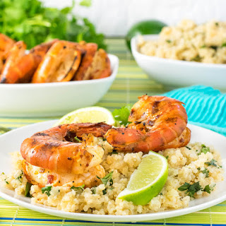Grilled Chipotle Shrimp with Cilantro Lime Quinoa