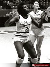 Photo: Teresa Ray during her playing days at Oklahoma.