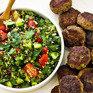 Lamb Koftas with Rustic Tabbouleh
