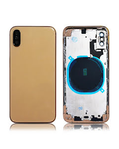 iPhone XS Back Housing without logo High Quality Gold