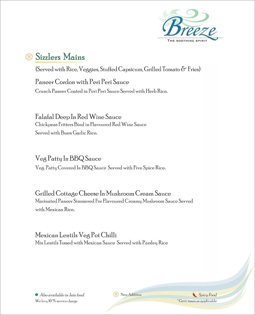 Breeze Lounge menu 8