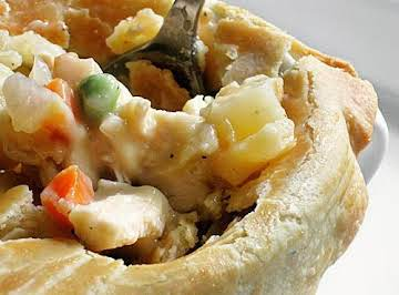 Cheap and Easy Rotisserie Chicken Pot Pie!