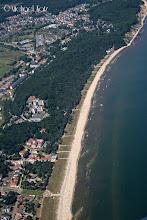 Photo: Det er varmt og tydeligvis folksomt på stranda utenfor Binz nord i Tyskland