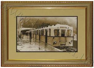 """Photo: Станция метро """"Днепр"""" в Киеве, 1960 г. Фотография Мельник М.А."""