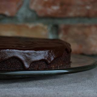 Orange Cake With Chocolate Ganache [Vegan]