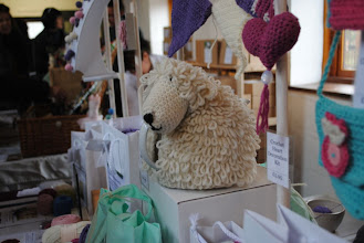 Photo: Tea cosy sheep. He's crocheted.