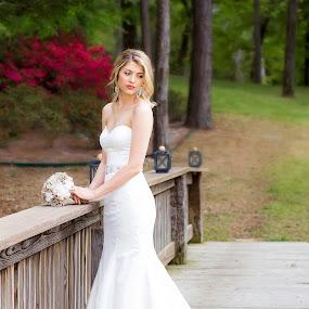 by Sabrina Causey - Wedding Bride ( wedding, woman, white, wedding dress, bride, portrait, , best female portraiture )
