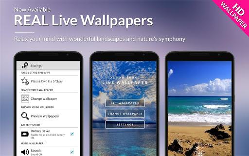 Ocean Love HD Live Wallpaper