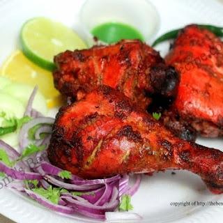 Indian restaurant style Chicken Tandoori.