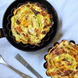 Crustless Summer Quiche with Swirled Zucchini, Tomatoes and Riccota Cheese