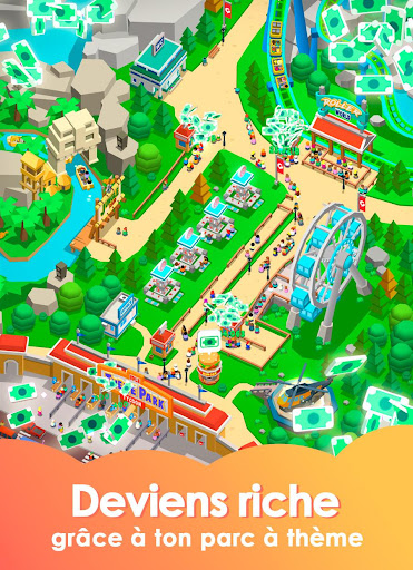 Idle Theme Park - Jeu Magnat  captures d'u00e9cran 2