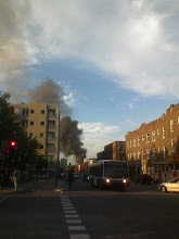Photo: Fire seen from St-Laurent (19:33)