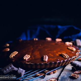 Smoked Chocolate Pecan Mud Cake.