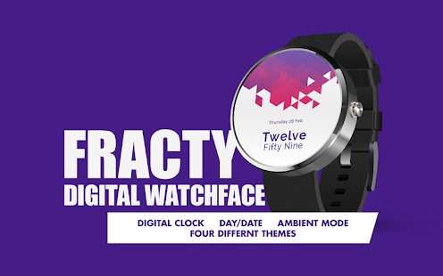 Fracty Digital Watch Face- screenshot thumbnail