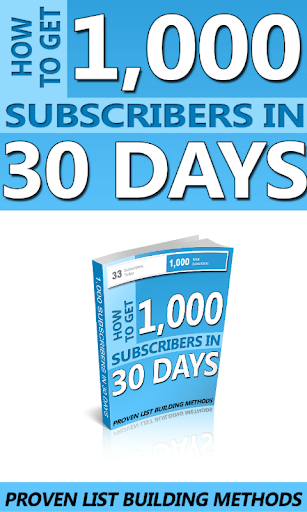 1K Subscribers in 30 Days
