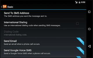 Screenshot of Call Messenger Lite