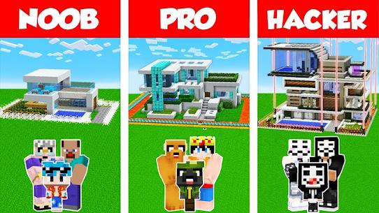 Noob vs Pro vs Hacker for Minecraft PE 1
