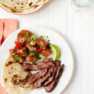Chili Steak with Tomato and Jalapeño Salad