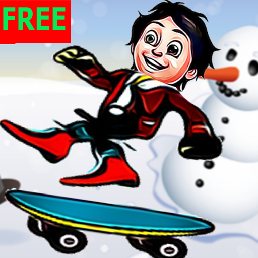 SHIVAA SKATE BOARDING IN SNOW : FREE