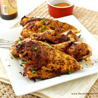 Barbecue Rubbed Grilled Chicken.