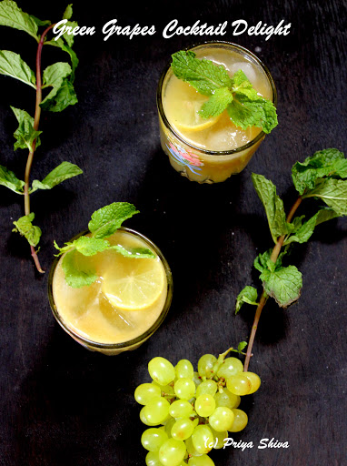 Green Grapes Cocktail Delight
