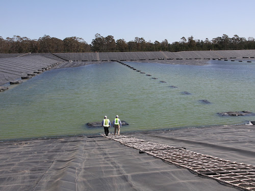 Santos's water treatment facility at the Narrabri Gas Project.