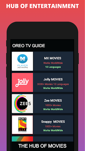 Oreo TV App Live Guide screenshot 3
