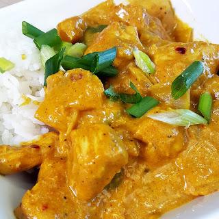Thai Peanut Chicken Curry.