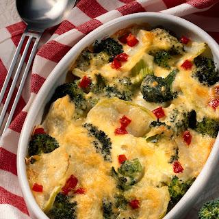 Broccoli-Gratin mit Kohlrabi