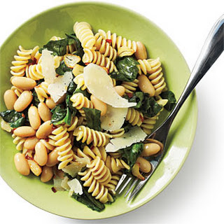 Rotini with White Beans and Escarole.