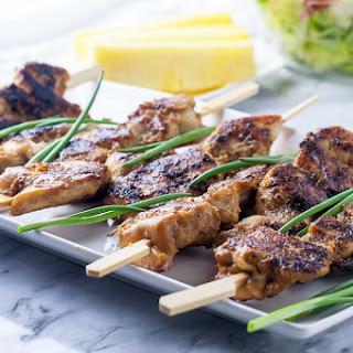 Ginger-Garlic Glazed Korean Chicken Skewers Recipe