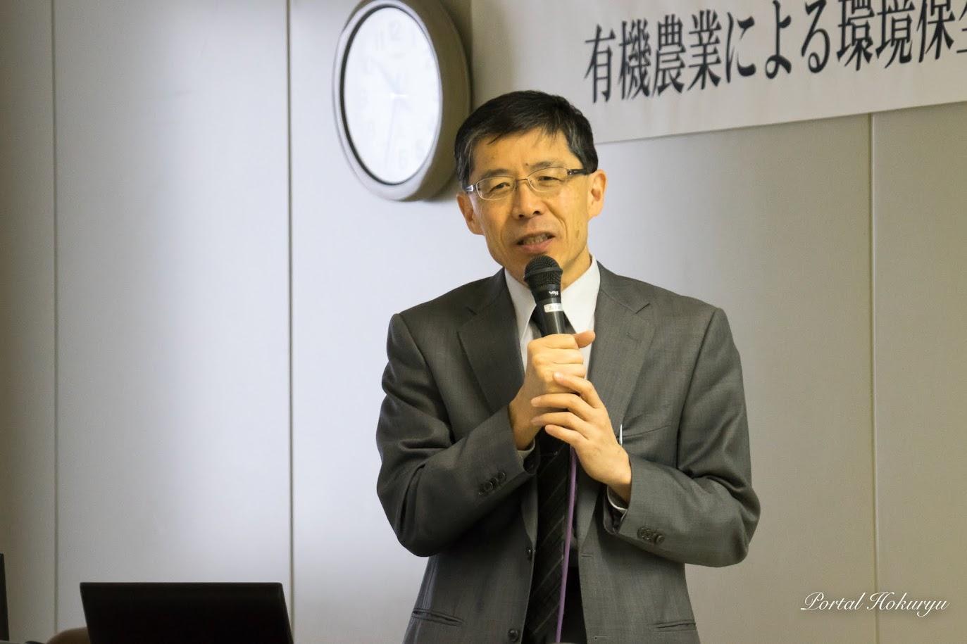 北海道立総合研究機構農業研究本部(中央農業試験場場長)志賀弘行 本部長