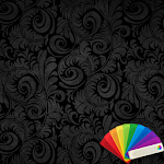 Floral Black Xperien Theme Icon