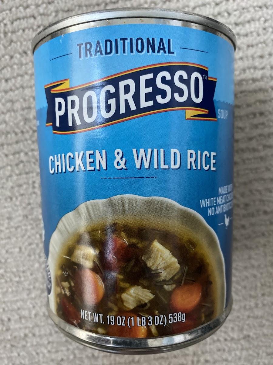 Progresso Traditional Chicken & Wild Rice Soup