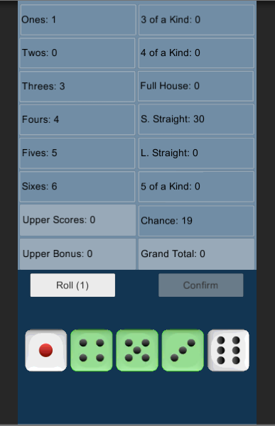 Five Dice Game- screenshot