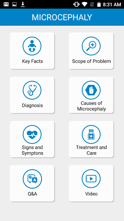 WHO Zika App- screenshot