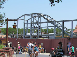 Photo: More progress on the new mountain coming to Fantasyland and the Magic Kingdom.