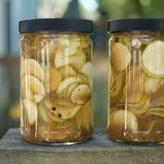 Slightly Sweet Zucchini Fridge Pickles