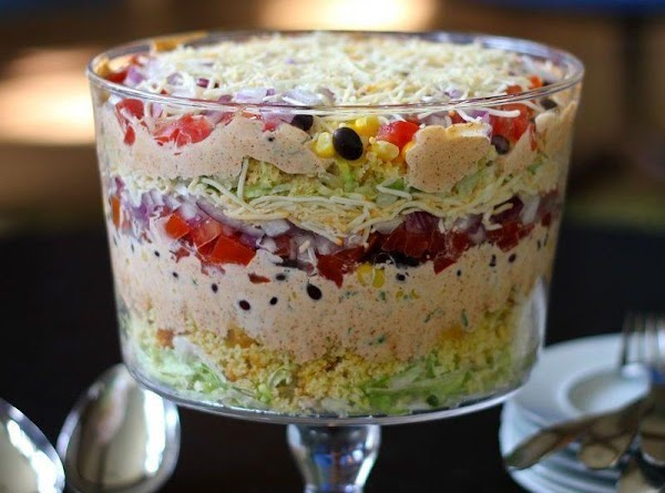 Southern Layered Cornbread Salad Recipe
